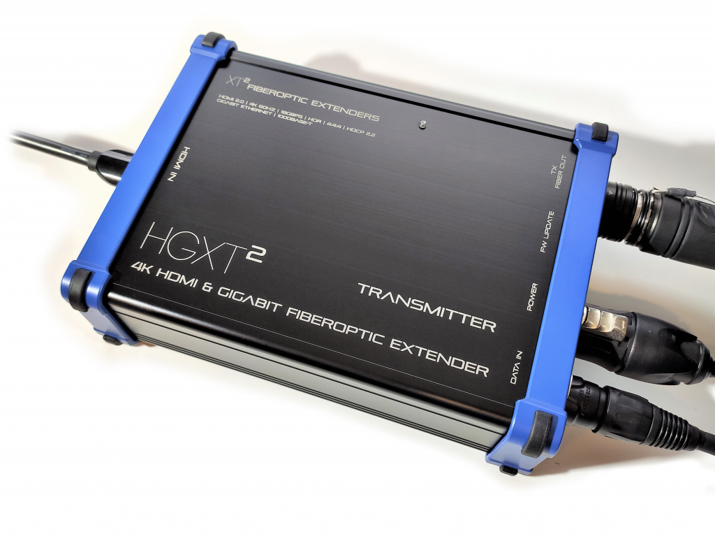 Heavy Duty Video extenders - HGXT² HMDI + ethernet fiber extenders