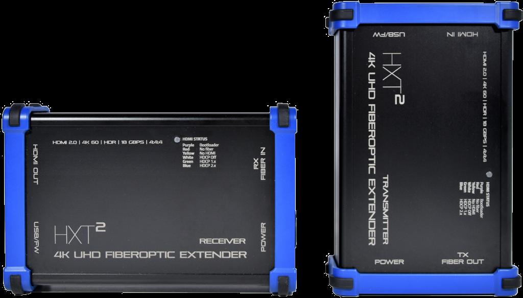 HXT² HDMI over fiber exterdenrs - Heavy Duty Video extenders ruggedized