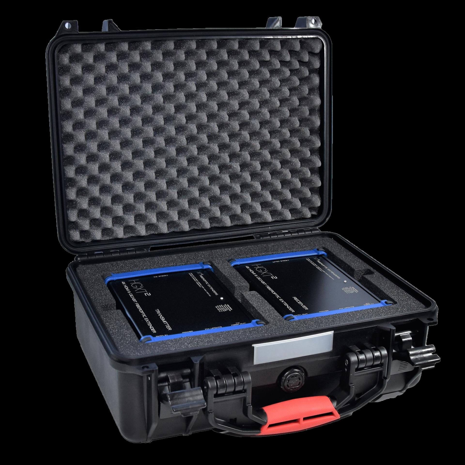 HGXT² - HDMI Ethernet fiber extender - flight case