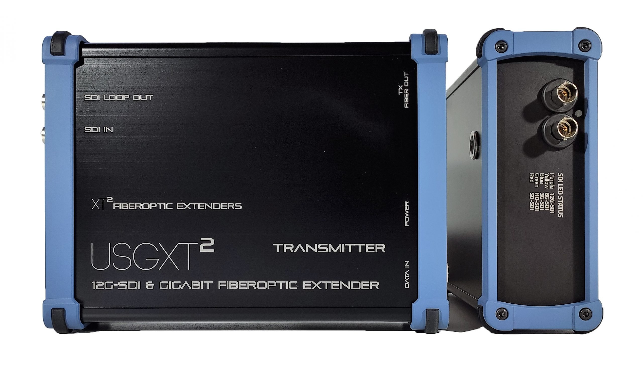 USGXT² - rugged SDI + gigabit ethert over fiber - Heavy Duty Video extenders
